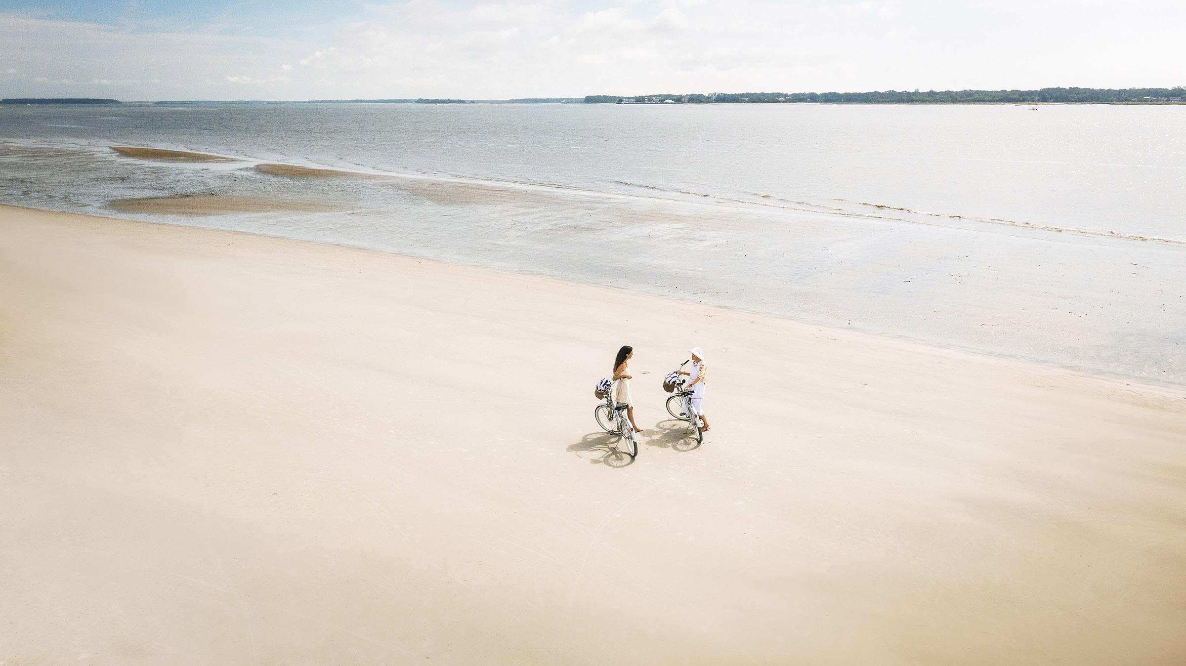 Biking beach Daufuskie Island