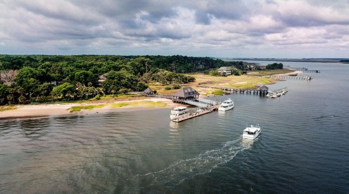 Ferry Arrival Haig Point Dock