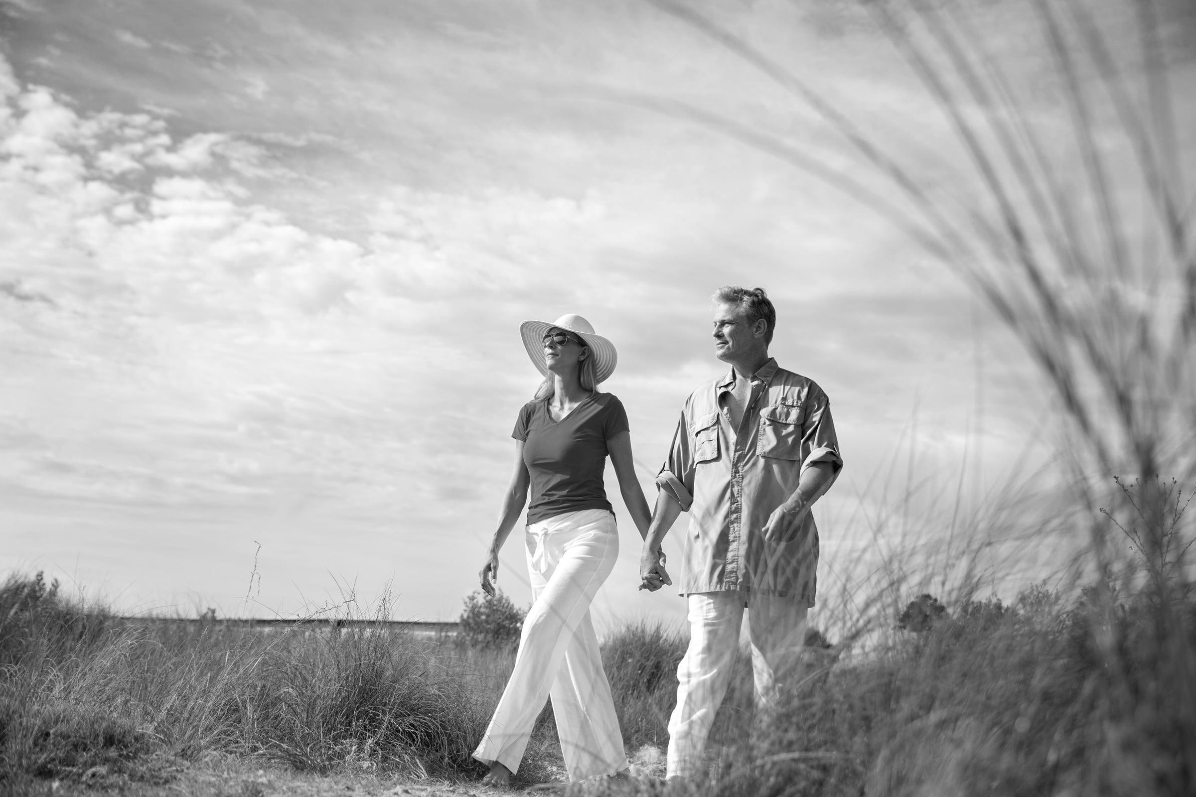 Walking Couple BW